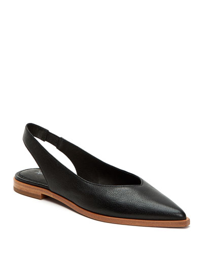 Kenzie Leather Slingback Flats