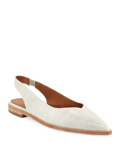 Kenzie Slingback Leather Flats