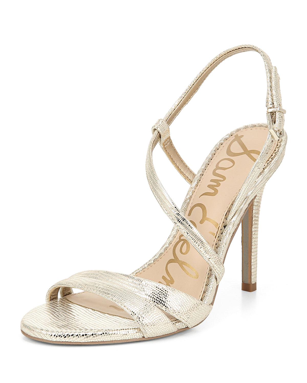 2c24290e8 Sam Edelman Alisandra Strappy Metallic Leather Sandals