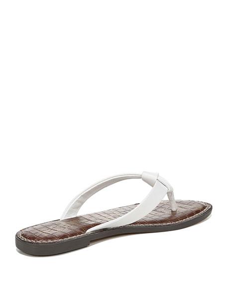 Sam Edelman Giles Napa Leather Thong Sandals, White