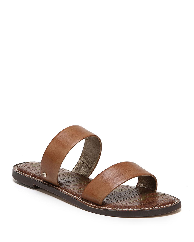 3228768e7 Sam Edelman Gala Leather Flat Slide Sandals