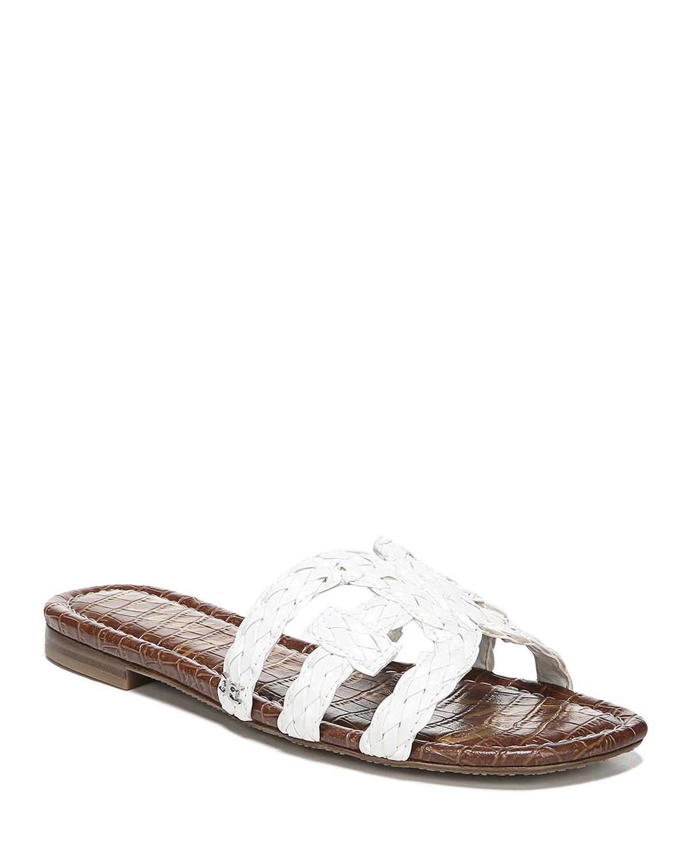 9037bade3f142c Sam Edelman Beckie Braided Leather Cutout Slide Sandals
