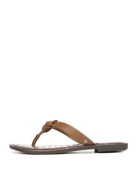 Sam Edelman Giles Napa Leather Thong Sandals, Brown