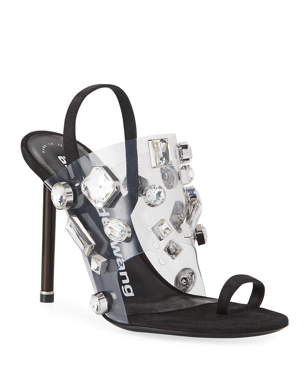 c408c248771 Kaia Clear Jeweled Slingback Sandals