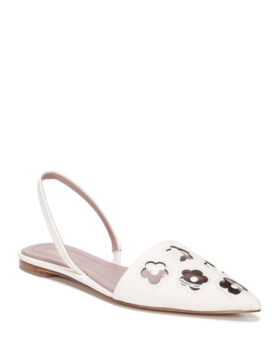 Koko Leather Flower Flats