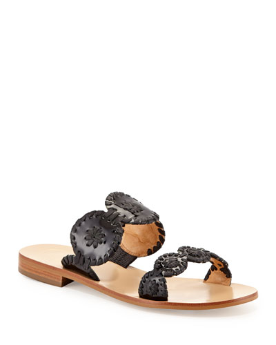 Lauren Double-Strap Sandals  Black
