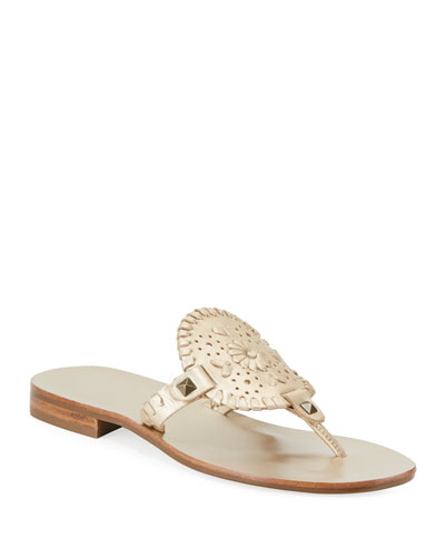 Georgica Whipstitched Thong Sandals