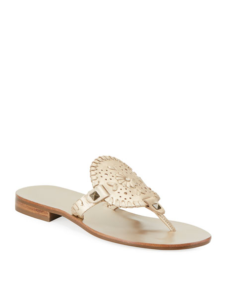 Jack Rogers Sandals GEORGICA WHIPSTITCHED THONG SANDALS