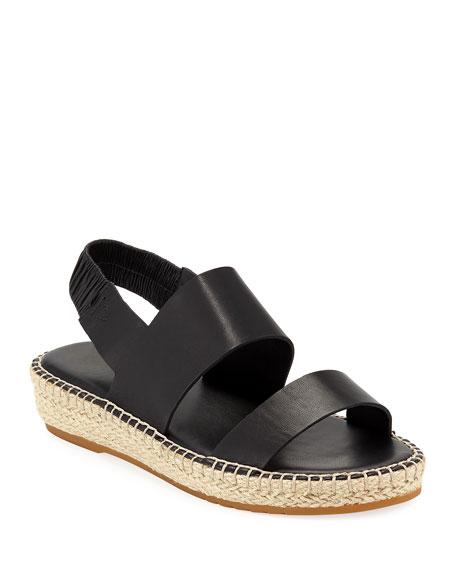 4ca01e6258c Women's Cloudfeel Slingback Platform Espadrille Sandals in Black Leather
