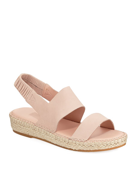 Cole Haan Sandals CLOUDFEEL LEATHER ESPADRILLE SANDALS, PINK