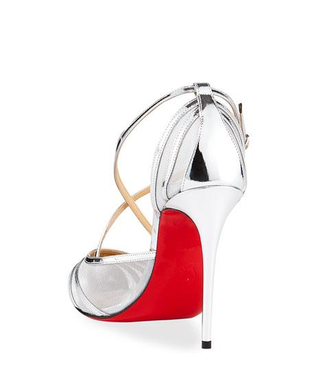 Christian Louboutin Theodorella Strappy Specchio Red Sole Pumps