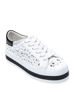 932760a78696 Alice + Olivia Emersyn Woven Platform Sneakers