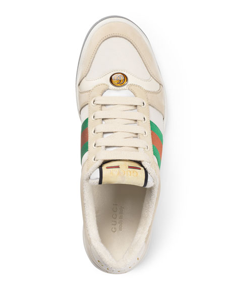 Gucci Screener Low-Top Leather Sneakers