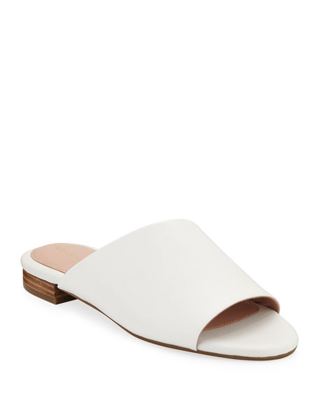 Taryn Rose Vanessa Flat Leather Slide Sandals