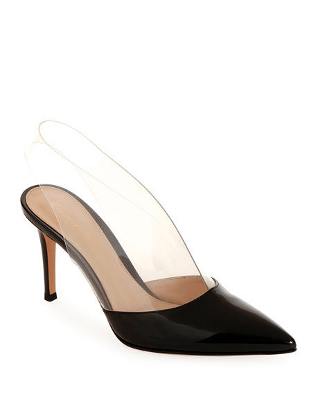 Gianvito Rossi Clear-Strap Patent Illusion Pumps