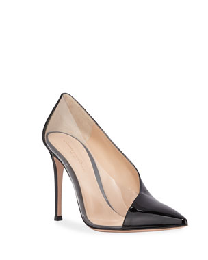 28803a97b0d Gianvito Rossi Plexi Patent Clear-Sided Pumps