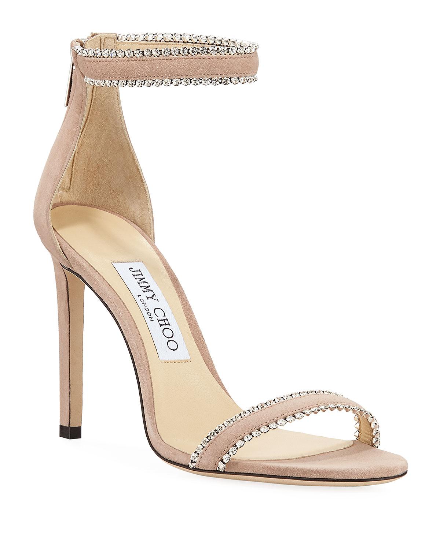 Jimmy Choo Dochas Jeweled Ankle-Strap