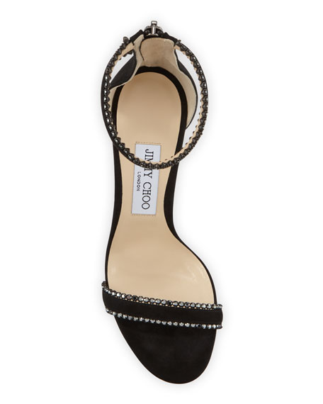 Jimmy Choo Dochas Jeweled Ankle-Strap Sandals