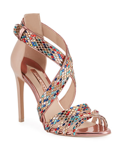 Danae Crystal Strappy Sandals