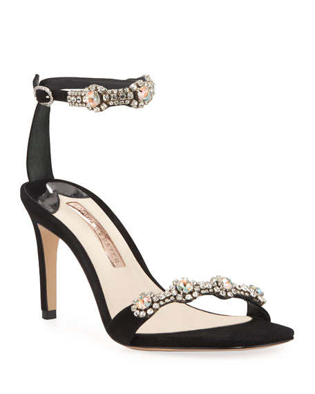 Sophia Webster Sandals AALIYAH EMBELLISHED ANKLE-STRAP SANDALS