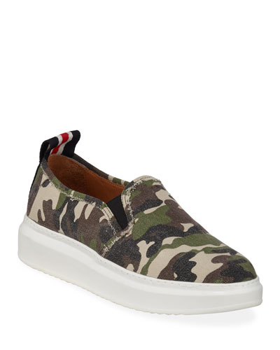 Westley Camo Slip-On Sneakers