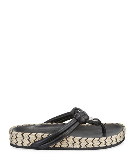 Rag & Bone Eva Leather Jute-Flatform Thong Sandals