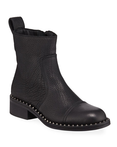 Zadig & Voltaire Empress Clous Studded-Trim Leather Booties