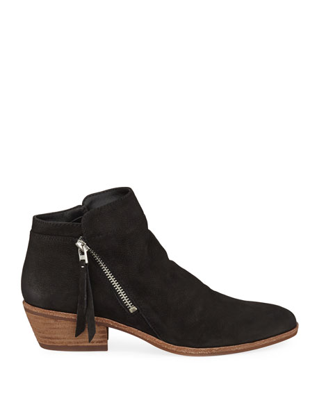 Sam Edelman Packer Double-Zip Leather Ankle Booties