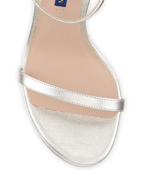 Stuart Weitzman Nudistdisco Metallic Patent Sandals