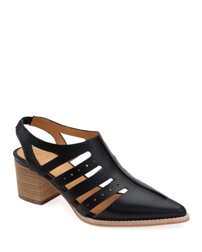Tracey Leather Ankle Booties