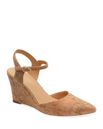 Perdi Cork Wedge Sandals