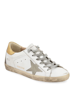 404aa26a7338 Golden Goose Superstar Leather Sneakers with Metallic Back