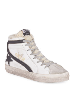 fec9b0a6fe2c Golden Goose High-Top Shearling-Lined Sneakers
