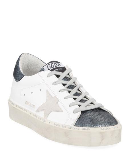 Golden Goose Hi Star Snake-Print Platform Sneakers