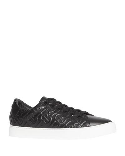 Albridge TB Embossed Leather Sneakers