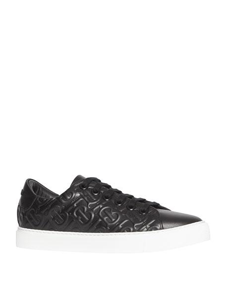 Burberry Albridge TB Embossed Leather Sneakers