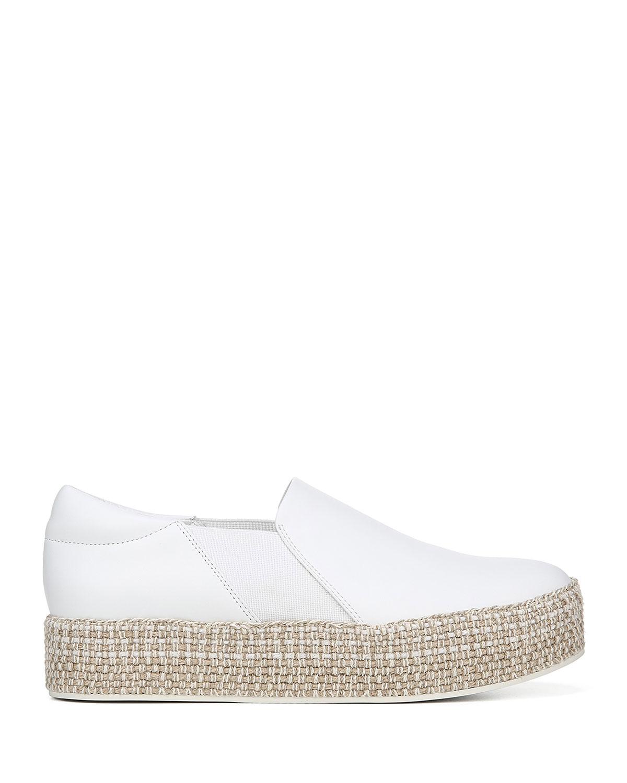 Vince Womens Wilden Platform Slip On Sneakers