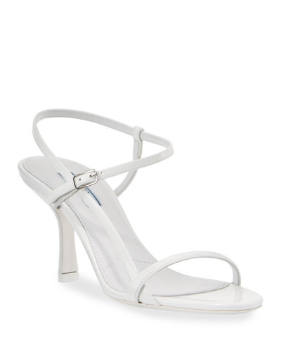 75mm Strappy Patent Leather Sandals