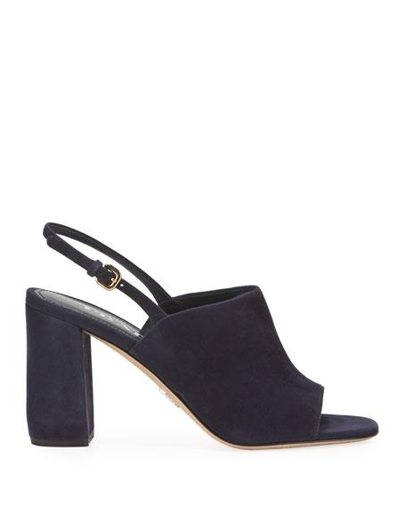 Prada Slingback Suede 85mm Sandals