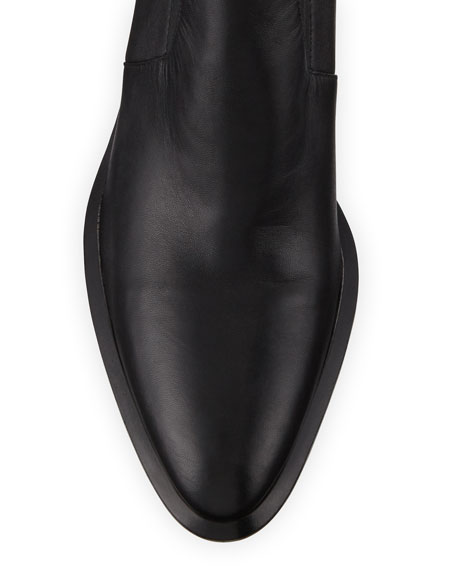 Alexander Wang Anna Leather Block-Heel Stretch Booties