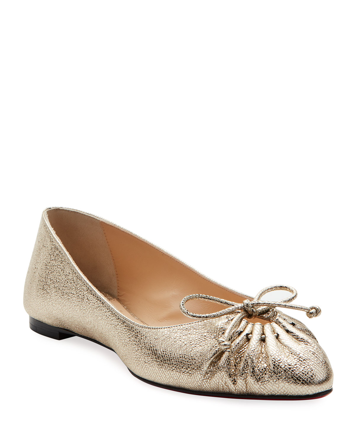 cheap for discount 6415a 13110 Merimee Red Sole Ballet Flats, Gold