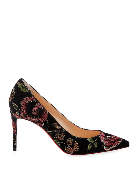 Christian Louboutin Kate Embroidered Red Sole Pumps