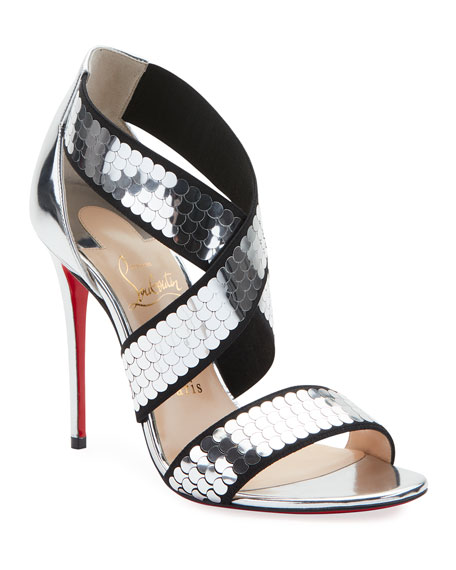 Christian Louboutin Xili Disco Ball Red Sole Sandals