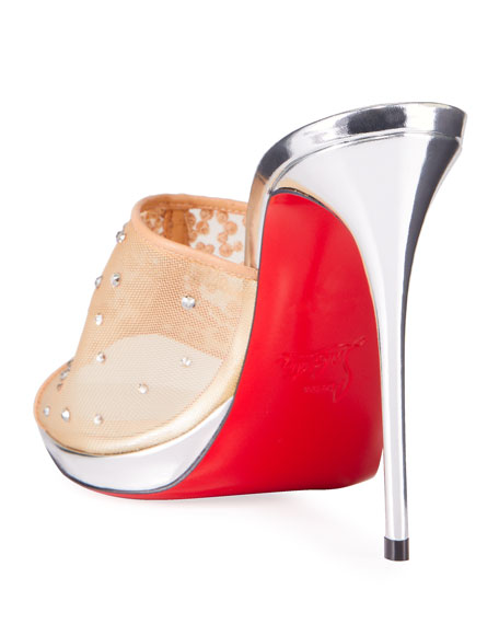 Christian Louboutin Violas Mesh Red Sole Mule Sandals