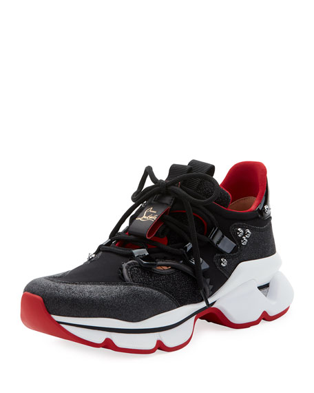 Christian Louboutin Donna Red Sole Runner Sneakers