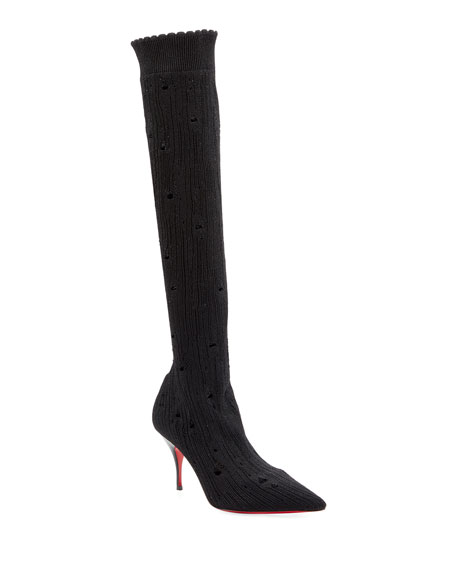 Christian Louboutin Sandrine Stretch Red Sole Knee Boots