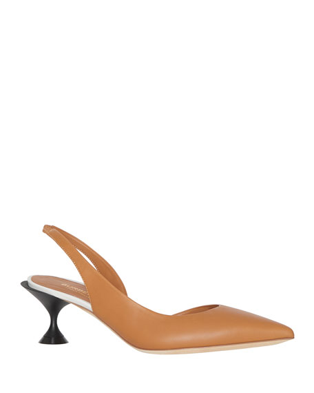 Burberry Leticia Pointed-Toe Slingback Pumps