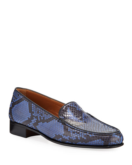 Gravati Python Moccasin Loafers