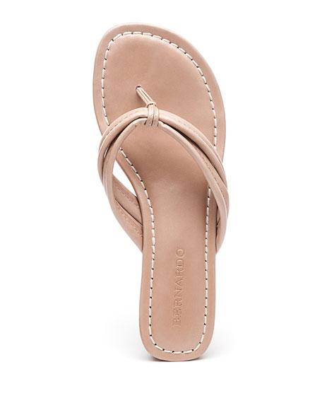 Bernardo Miami Flat Antiqued Leather Thong Sandals