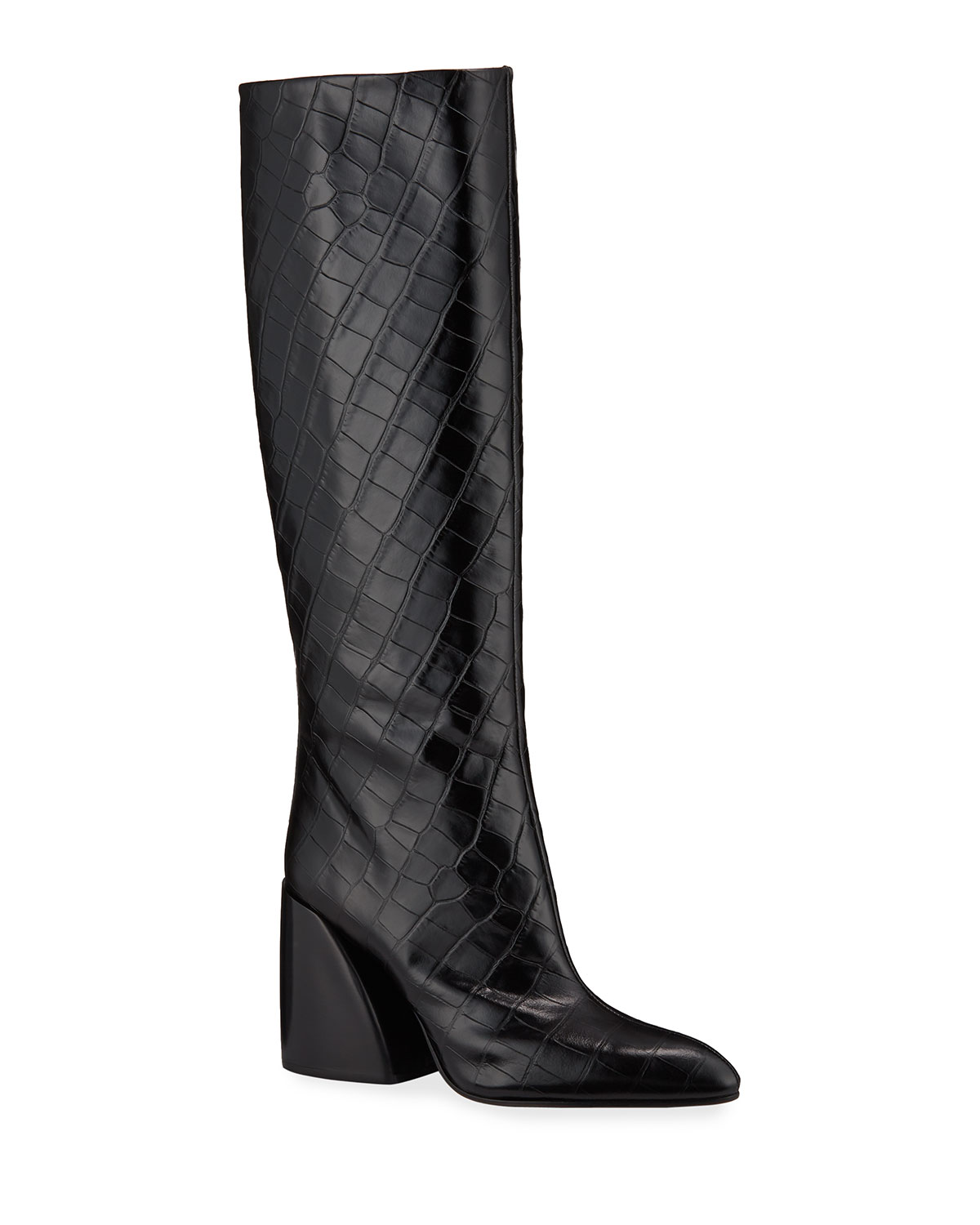 b181243a12a Wave Croc-Embossed Tall Boots
